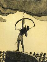Maynard Dixon : Me No Kan : Indian Boy : 1930s : Archival Quality Art Print