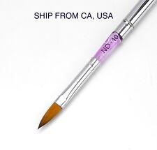 Pro Marble Sable Acrylic Nail Art Design Paint Painting Brush Pen - Size 10