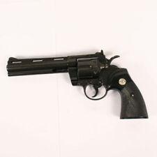 """Replica Colt Python .357 Magnum Pistol Revolver Denix Prop Gun 6"""" Barrel black"""