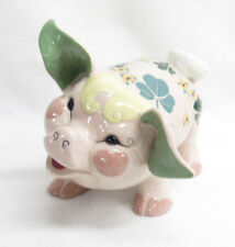 VTG KAY FINCH CALIFORNIA ART POTTERY PIG SHAMROCKS
