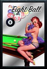 Las Vegas Pin Up Motiv 3 Nostalgie Barspiegel Spiegel Bar Mirror 22 x 32 cm