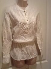 White Size Medium Tunic/Blouse/Top
