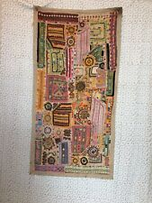 """51x26"""" Multicoloured Indian Embroidered ArtDecor Vintage Tapestry WallHanging"""