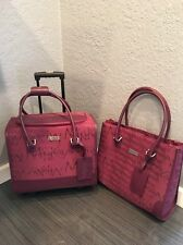 2 Piece Mary Kay Consultant Rolling Case Luggage & Tote Lot Purple Signature NEW