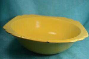YellowWare Bowl   USA Stoneware  Crockery Prim farmhouse decorative edge