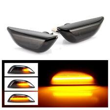 2x For Buick Encore 2013-17 LH+RH Leaf Plate Lamp Black Cover Running LED Light