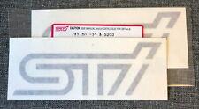 x2 Impreza STi S203 Sticker Decal Black Subaru Tecnica International JDM Genuine