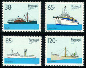 Madeira 1992, Inter Island, Ships, set of 4, Portugal UNM / MNH