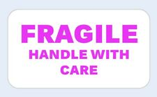 30 Pink Fragile Small Business Labels Stickers Postage Self Adhesive