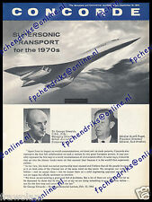 CONCORDE BROCHURE - SST SUPERSONIC TRANSPORT FOR THE 1970s ENGLISH 8 PAGES 1964