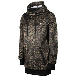 VOLCOM Womens 2021 Snowboard Snow SPRING SHRED HOODY Leopard