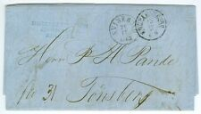 DENMARK/NORWAY: Unpaid cover Hamburg to Norway 1863. (5)