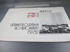 Herpa:Gesamtprogramm HO, Automarkt 81/82    (Kat2)