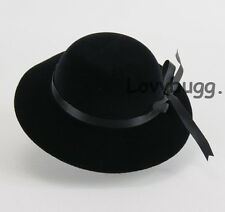 "Black Velvet Hat for 18"" American Girl Doll Clothes Widest Selection! Lovvbugg!"
