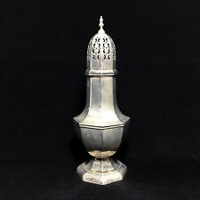 "Large 9"" Antique Sterling Silver Sugar Shaker Muffineer - James Jay England #DL"