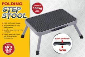 Easy Reach Folding Step Ladder Stool Foldable Anti Slip Feet Kitchen Garage Home