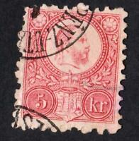 HONGRIE- N°3  - STAMP USED  YEAR 1871 --CV :30 €