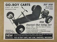 1959 Fox GO-BOY Carts go-kart cart photo vintage print Ad