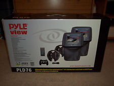 "Pyle View PLD76 Two 7"" Car Headrest Monitors W/ Built in DVD Player 1440 X 234"