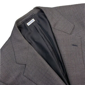 VTG 42 R Brioni Grey Pin Dot Nomentano Fit Wool Blazer Made Italy