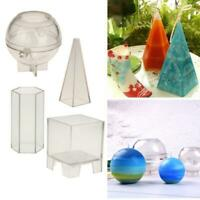 Hexagon/Sphere Ball/Cube/Pyramid Plastic Moulds DIY Candle Model Craft Tool