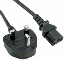 1m IEC Kettle Lead Power Cable 3 Pin UK Plug PC Monitor C13 Power Cord Cable