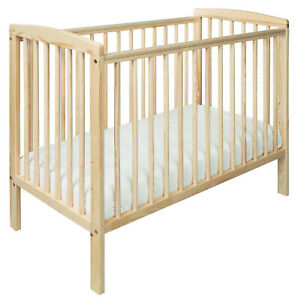 Kinder Valley Compact Cot Natural - 100cm x 50cm Sydney Solid Pine Baby Cot