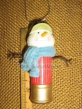 Snowman w Camo Hunting Hat in Shotgun Shell Christmas Ornament by Cannon Falls