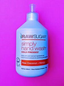 Raw Sugar Simply Hand Wash Raw Coconut Mango Vegan 16.9 floz Soap Sulfate Free