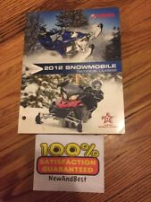 Yamaha 2012 Snowmobile Technical Update Shop Repair Service Diagnostic Manual