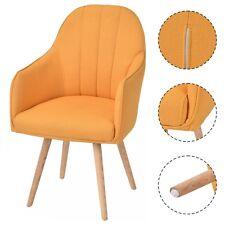 2x Sillas de comedor Con Patas Madera diseño moderno para Cocina,Salon amarillo