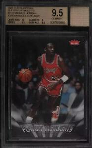 2007 Michael Jordan Fleer  Highlights Bulls GU Floor Graded Bgs 9.5💎MT  RARE