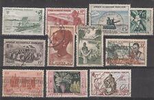 Colonies Françaises  AOF lot de 11 timbres oblitérés