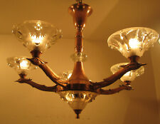 STUNNING FRENCH ART DECO CHANDELIER 1925 - SCULPTURAL BIRDS - BY BORIS LACROIX -