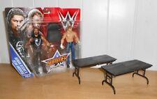 WWE - Roman Reigns & Dean Ambrose - wrestling figures w/ 2 x breakable tables