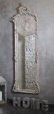 Miroir Glace Baroque Sculpte Gris Style Vintage Shabby Shic 174 Cm Hotel