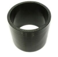 """BLACK Silicone Hose Coupler 76mm Straight (3"""" Inch Silicon Joiner)"""