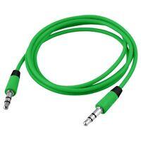 Alta Calidad Doble Extremo 3.5mm Jack Macho Sonido Audio Cable 60cm Verde