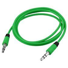 Haute qualité double Fin 3.5 mm Jack Mâle Audio Câble 60cm Vert