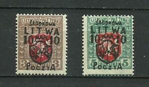 Poland 1919 CENTRAL LITHUANIA MNH ** Signed