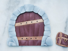 Wooden Painted Tooth Fairy Castle Door Wall Plaque Boys Room Decor Birthday