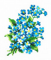 Cross Stitch Kit Forget-me-nots art. 28-06