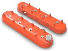Holley 241-164 Aluminum Orange Tall LS Chevy Valve Covers LS1 LS2 LS3 LS6 LSX