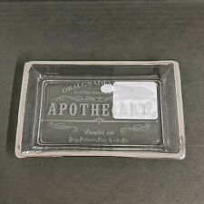 Bella Lux Dr. H. Gnadendorff Apothecary Soap Dish FROSTED free shipping