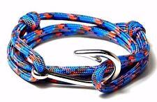 Nautical  Fish Hook Bracelet Paracord  Men Women Fashion Adjustable Jewelry