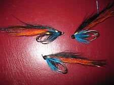 3 V Fly Size 9 Salar Ultimate Alta Blue Suhrlander Double Salmon Flies