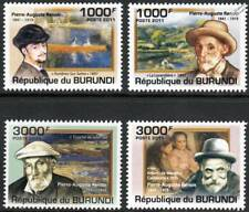 Pierre-Auguste RENOIR Artist & Painter / Art Stamp Set (2011 Burundi)