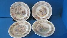 Brambly Hedge 4 sea story plates , FULL SET, RARE 16cm All Boxed  1ST QUALITY