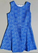 Girls Amy&# 00004000 039;s Closet Blue/White Embroidered A-Line Dress Casual Dressy Size16