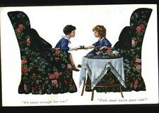 JEU d'ENFANT / SALON de THE / THE assez sucré ... illustratée début 1900